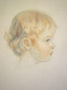 Davids Renée - Tête de petite fille (détail)