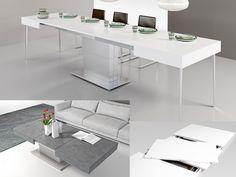 Tavolino trasformabile ARES MEGA cm 120×80 chiuso – cm 320×80 aperto. Allungabile a misure intermedie. Altezza regolabile al millimetro da 41 a 76 cm. Disponibile con meccanismo manuale o elettrico.