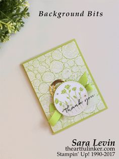 Sara Levin | theartfulinker.com Click the picture to see more of Sara's Designs. Background Bits and Tree Rings using In Colors for Creation Station blog hop, Handmade cards, rubberstamps, cardmaking, stampinup, stamping, saralevin, theartfulinker
