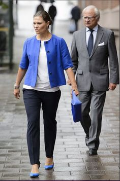 Crown Princess Victoria of Sweden attended in the Sustainable Seas Initiative Baltic Seminar on Kastellholmen in Stockholm on September 1, 2015.