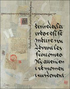Calligraphies à l'encre sur papier - Jean-Frédéric Crevon, plasticien calligraphe à Montpellier