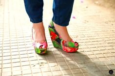 #heels #platformheels #wedges #tropicalheels #tropical #print #heelsporn #Mediterranean #coastal #footwear #shoes #feet #fashion #shoeporn #style