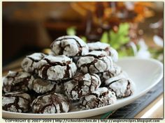 Angie's Recipes - Chocolate Spelt Crinkle Cookies