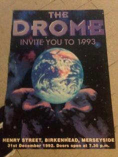 THE DROME - 1992 Rave Flyers. DROME, Birkenhead. 1992, New Years Eve. Rave Flyer   eBay