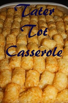 Tater Tot Casserole- Love, Pasta and a Tool Belt | tater tots | casserole | side dish | recipes |