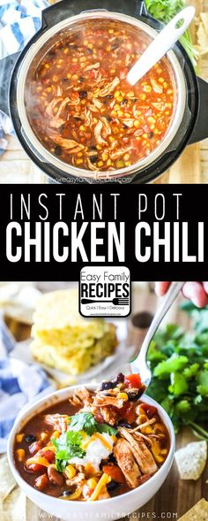 Cooker Chicken Chili · Easy Family Recipes - Recipes -{Instant Pot} Pressure Cooker Chicken Chili · Easy Family Recipes - Recipes - Creamy Garlic Butter Chicken and Potatoes - Chicken Recipes - corn capsicum masala recipe Chicken Chili Pressure Cooker Recipe, Best Pressure Cooker Recipes, Instant Pot Pressure Cooker, Slow Cooker Recipes, Pressure Cooking, Slow Cooking, Pressure Cooker Chili, Grilling Recipes, Chili Instant Pot Recipe