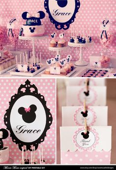 MINNIE Mouse Bithday Party Printable Set by SweetScarletDesigns