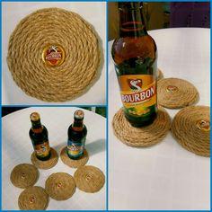 #dessousdeverre #corde #capsules #bieres