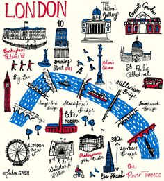 London Cityscape Art Print by Julia Gash Easyart.com