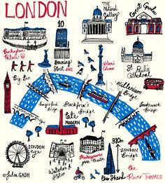 London Cityscape Art Print by Julia Gash Easyart.com