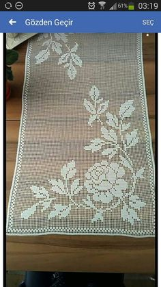 Serenity Street Hobbies lebenswert - My CMS Filet Crochet, Crochet Mat, Crochet Lace Edging, Crochet Borders, Crochet Doilies, Crochet Flowers, Crochet Thread Patterns, Crochet Stitches, Knitting Patterns