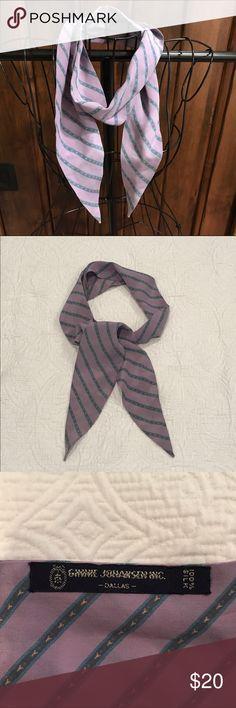 Ginnie Johansen Silk Necktie Lavender 100%Silk Ginnie Johansen from Dallas scarf/necktie. Classic and versatile! Ginnie Johansen Accessories Scarves & Wraps