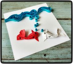 """"""" Koi's conversation """" #Quilling and #Origami combined by #jorgefriascreaciones"""