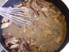Mushroom Gravy TL - good! Cooked for over stuffed pork tenderloin and used leftovers over pappardelle.