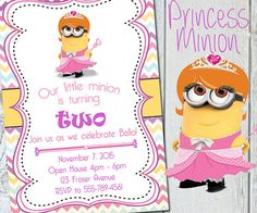 Minion Birthday Invitation Minion Party by ManeEventPromotions