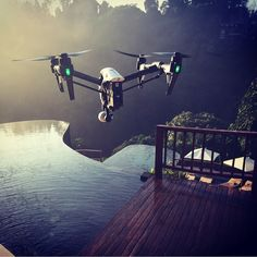 The DJI Inspire 1 has a range of 4500 meters, shoots in 4k, has a 360 degree range of motion camera and flies 50 miles per hour (22 Meters per second). : @flying_dragon_aerial. @polarpro @opticalhi
