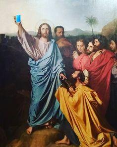 """""""#Selfie avec les coloc'"""". (""""Jésus remettant à saint Pierre les clés du Paradis"""" #Ingres 1820 #MuséeIngres #Montauban)  #détournement  #MontaubanTourisme #TarnetGaronne #MidiPyrénées #tourismemidipy #LanguedocRoussillonMidiPyrénées #igersmontauban #igersmidipyrenees  #igersfrance #ig_france #musée #museum  #trésorspatrimoine #patrimoine #latergram"""