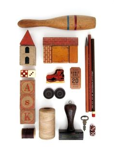 Parts and Pieces no 10 (brown) - INSTANT COLLECTION - Curated Found Objects