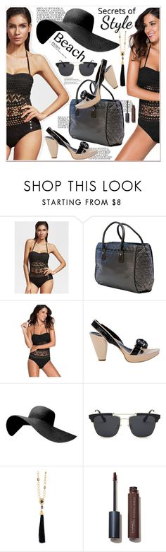 """""""Sun's Out: Beach Day and PaoloShoes"""" by spenderellastyle ❤ liked on Polyvore featuring WithChic, Oscar de la Renta and beachday"""