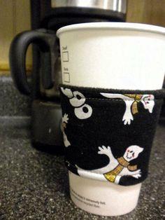Halloween BOO Coffee Shop Cup Sleeve Cozy by GrandpaGrandmasAttic, $3.50
