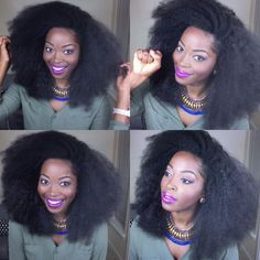 blowout kinky natural hairstyle
