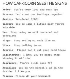 tadaaa, tadeedleleedlelee, that concludes all of these(: sagittarius and taurus were posted a while back before we got to these ones if anyone is looking for thosee ~natasia - - #aries #cancer #taurus #gemini #leo #virgo #scorpio #libra #sagittarius #capricorn #aquarius #pisces #textpost #textposts #sunsign #moonsign #zodiac #tumblr