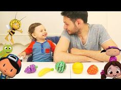 Arı Maya Niloya Tospik Pepee Şila ile Çocuklar ve Bebekler Renkleri Öğreniyor l Renkli Meyveler - YouTube
