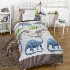 Dinosaur facts single duvet cover for kids Nursery Themes, Nursery Ideas, Dinosaur Facts, Dinosaur Nursery, Kool Kids, Boys Bedroom Decor, Single Duvet Cover, Nursery Inspiration, Comforters