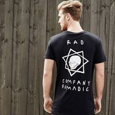 @samwines_ in Nomadic's new The Big Rad Co T-Shirt in Black. An exclusive at Neverland Store. Available in store and online at neverlandstore.com.au @nomadic_paradise #neverlandstore #exclusive #whiteonblack #mens #fashion #style