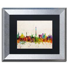 Paris Skyline by Michael Tompsett Framed Graphic Art