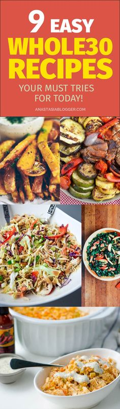 9 Easy Whole30 Recipes - Your Must Tries for Today! Whole30 Dinner ideas for crockpot. Whole30 Diet made simple with these recipes which take less than 30 min! #recipe #whole30 #dieting #whole30recipes