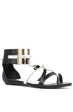 The Tamara Sandal in Black and White Leather by *Sole Boutique  $79.00 onsale for $52.95 FAVORITE!