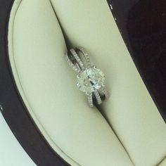 2.00 ct Custom cushion cut diamond engagement ring Rothschilddiamond.com creation! My fave! Like the on Facebook at www.facebook.com/RothschildDiamond