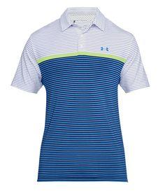 Under Armour Mens Playoff Super Stripe Polo Shirt - GolfOnline Black Polo Shirt, Striped Polo Shirt, Aw 2018, Casual Outfits, Men Casual, Under Armour, Polo Ralph Lauren, Golf, Mens Tops