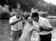 This baptism took place on the North Fork of the Holston River near the Tennessee/Virginia state line. Description from southernvisions.net. I searched for this on bing.com/images