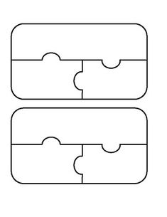 Use this three piece puzzle template to help turn any subject into a game. Preschool Learning Activities, Book Activities, Puzzles For Kids, Games For Kids, Puzzle Piece Template, Stationary School, French Lessons, Interactive Notebooks, Puzzle Pieces