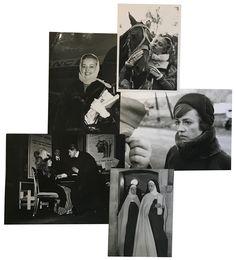 """Jeanne Moreau Dans les films : """"La Reine Margot"""" de Jean Dréville, 1954, """"Les Amants"""" de Louis Malle, 1958, """"Le Dialogue des carmélites"""" de Philippe Agostini et Raymond Léopold Bruckberger, 1962, """"La Mata Hari, agent H 21"""" de Jean-Louis Richard, 1965 (5), """"L'Arbre"""" de  15 tirages argentiques d'époque, cachets, annotations manuscrites et indications de parution au dos pour certains  De 13 x 18 cm à 18 x 24 cm"""