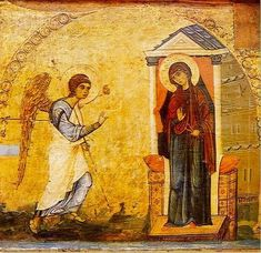 Icon of the Annunciation, St Catherine's Monastery, Sinai, 12th century. + + + Κύριε Ἰησοῦ Χριστέ, Υἱὲ τοῦ Θεοῦ, ἐλέησόν με τὸν + + + The Eastern Orthodox Facebook: https://www.facebook.com/TheEasternOrthodox Pinterest The Eastern Orthodox: http://www.pinterest.com/easternorthodox/ Pinterest The Eastern Orthodox Saints: http://www.pinterest.com/easternorthodo2/