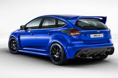 2016 Ford Focus RS: 6-speed, AWD, 345 horsepower/347 lb-ft torque from its 2.3-liter EcoBoost four-cylinder.
