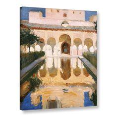 ArtWall Joaquin Sorolla y Bastida's 'Hall Of The Embassadors, Alhambra, Granada, 1909' Gallery Wrapped Canvas