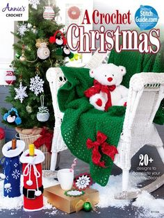 A Crochet Christmas is a book of tree trims and festive holiday decor all stitched using thread and a variety of different yarn weights A great