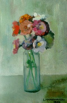 ❀ Blooming Brushwork ❀ - garden and still life flower paintings - L.F.J. Marchand.