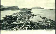 Møre og Romsdal fylke Aalesund fra Aksla tidlig 1900s Utg Valentinos series