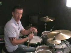 DRUM LESSONS Paradiddle-diddle around the kit - YouTube