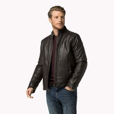 Tommy Hilfiger Classic Leather Jacket - java-pt - Tommy Hilfiger Leather Jackets - main image