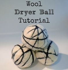 DIY Wool Dryer Ball Tutorial - natural alternative to toxic dryer sheets. Wool dryer balls also help clothes dry faster, which cuts back on energy bills! Wet Felting, Needle Felting, Make Your Own, Make It Yourself, How To Make, Homemade Cleaning Supplies, Cleaning Tips, Wool Dryer Balls, Felting Tutorials