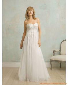 2013 Neue Schlichte Brautmode aus Tüll Herzförmiger Ausschnitt und verzierter Rock mit Hochtaille