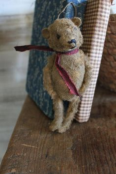 cinnamon creek dry goods | 2015 | Bear Ornament     6'' tall... great as an ornament , put with one of your Santas or tuck in anywear !         42.00 plus shipping....SOLD