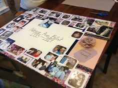 how to make a photo board for a funeral
