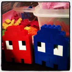 Pacman Ghosts. Lego. Easy decor for an 80s party